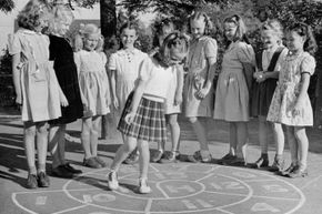 The French variation on hopscotch, called escargot, features a spiral court instead of a linear design.