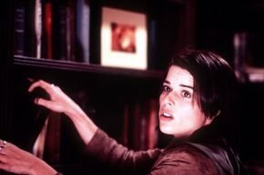 """Neve Campbell appears simultaneously scared and tough in Wes Craven's """"Scream 3."""""""