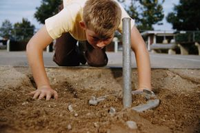 Building your own horseshoe pit is simple and will provide hours of entertainment. See pictures of classic toys and games.