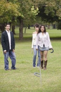 While there are regulation court sizes for horseshoes, all you need for a casual game is enough space for a throw.
