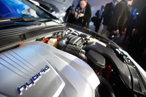 Image Gallery: Hybrid Cars The 2011 Hyundai Sonata Hybrid is displayed at the New York International Auto Show in New York. See more pictures of hybrid cars.