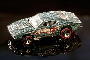 The Hot Wheels 40th anniversary jeweled car