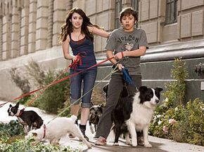"""Dog Image Gallery After finding a place to hide their dog Friday, Andi (Emma Roberts, left) and her brother Bruce (Jake T. Austin, right) eventually wind up giving shelter to most of the strays in town in the comedy/adventure """"Hotel for Dogs."""" See more dog pictures."""