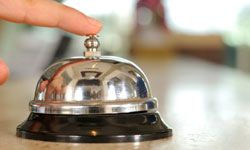 What does the hotel manager not want you to ring the bell about? See more family vacation pictures.