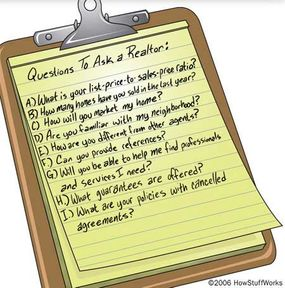 Be prepared to interview prospective agents by having a list of questions on hand. Take your time and get answers to everything on your list.