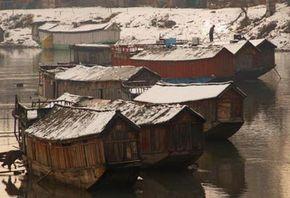 Houseboats in Srinigar, India