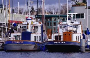 Two houseboats docked at Lake Union in Seattle, Wash. See more pictures of home design.