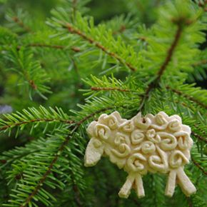 Dough ornaments, like the one pictured here, are fun and easy to make.