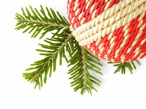 Almost anyone can turn worn-out pieces of fabric into a festive Christmas ornament.