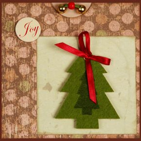 With a few adjustments, an old Christmas card can become a beautiful ornament for your tree.