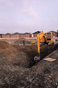 Improperly backfilled soil is the biggest culprit for house settlement.