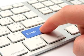 OK, so you may not have this button on your keyboard, but finding friends on Facebook is still easy to do.