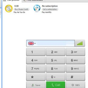 Some Skype services, such as making calls to landlines or cell phones, require you to purchase a subscription or use Skype Credit.