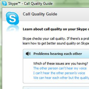 Try the Call Quality Guide within Skype to help diagnose problems with sound or video.
