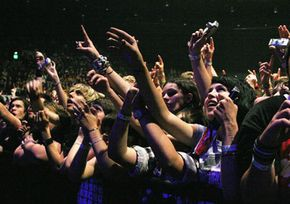 Fans at the Taste of Chaos concert on Oct. 14, 2006 in Sydney, Australia, use digital cameras to capture performances.
