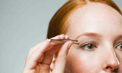 Be careful when applying your lashes -- poking yourself with a pair of tweezers doesn't count towards adding a little something to your eyes!