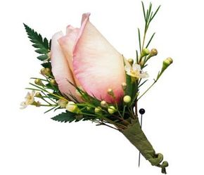 A single flower can be the center of a beautiful corsage.