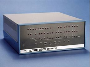 The Altair 8800 didn't have a hard drive to back up.