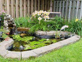 If this pond wasn't level, it could cause quite a few headaches.