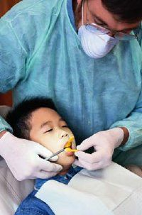 Your child may be initially afraid of the dentist, just as children usually fear strangers.
