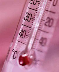 When using a glass thermometer, shake it down before each use.