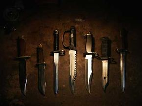 Hunting knives come in all shapes and sizes. Take your pick.