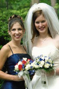 The author with her maid of honor, Heather, who insists that it was a cinch being Alia's MOH.