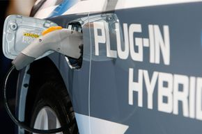 Image Gallery: Plug-in Hybrid Cars A Toyota Prius Plug-In Hybrid on the first press day of the Frankfurt Auto Show in Frankfurt, Germany, on Sept. 15, 2009. See more pictures of plug-in hybrids.