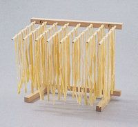 Dry the pasta using a drying rack.