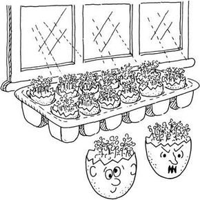 Green-Haired Eggheads Easter Activity