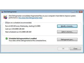The Defrag utility in Widows Vista makes it easy to schedule and control the process.