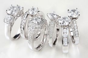 Some contemporary diamond ring designs won't last for the ages.