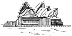 Famous Landmarks Image Gallery Learn how to draw the Sydney Opera House in a few easy steps. See more pictures of famous landmarks.