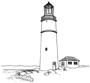 Lighthouse Pictures Learn how to draw this lighthouse in a few simple steps. See more pictures of lighthouses.