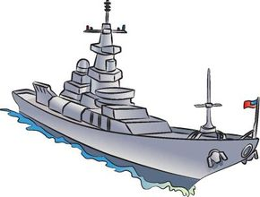Navy ships patrol the waves, keeping the oceans safe -- in real life and in your drawings.