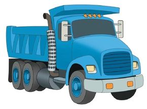 Learn how to draw this dump truck.