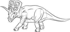 Dinosaur Image Gallery Arrhinoceratopss horns and head crest make it unique -- and a lot of fun to draw. See more dinosaur pictures.