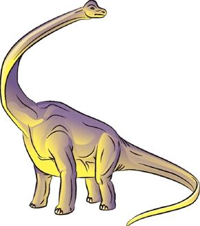The curious-looking Brachiosaurus has a tiny head perched atop a long neck. See more dinosaur pictures.
