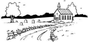 Learn how to draw this country church landscape.