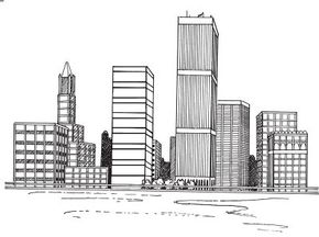 Learn how to draw this cityscape.