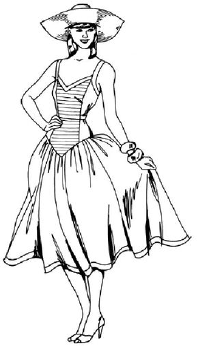 Learn how to draw a woman in a sundress with step-by-step instructions and illustrations.