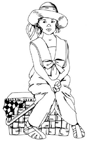 Draw a little girl with a picnic basket by following our step-by-step instructions and illustrations. 