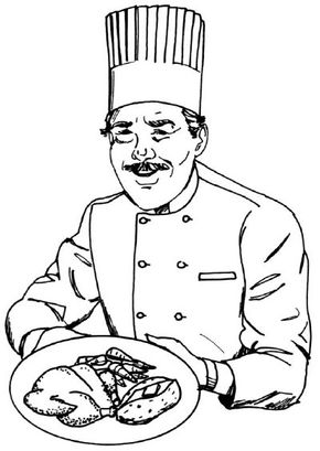 This chef rules the kitchen. Learn to draw this chef -- from his tall chefs hat to his crisp coat -- in just five simple steps.