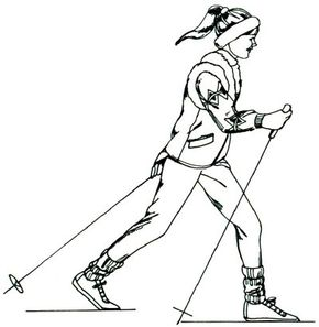 This skier is ready for a wintertime adventure. For your own adventure, draw this skier by following the five simple steps in this article.