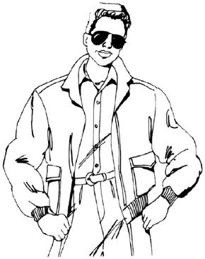 Learn how to draw a man in a bomber jacket with clear step-by-step instructions.
