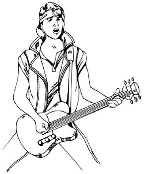 Learn how to draw a rock star with step-by-step instructions and illustrations.