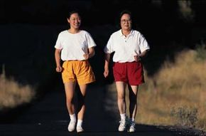 Walking with a friend is just one great way to energize a walking routine.