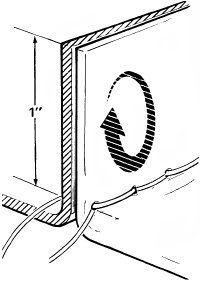 Stitch the two panels together with a 1-inch seam;                                            then open the panels, turning the seam side up.