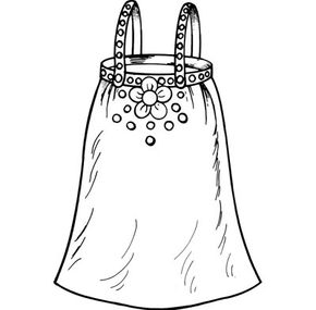 Make a girl's dress from an old skirt.