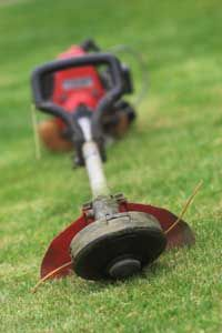 A weed trimmer can come in handy when mowing the yard.